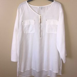 Company Ellen Tracy 100% Linen Top